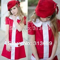 Wholesale Frozen Dress Girl Cross Collar Baby Vestidos De Menina Kids Girls Clothes Party Dresses Christmas Princess tcq 005 W1