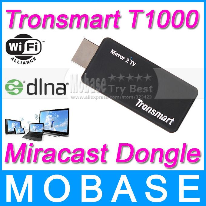 Tronsmart T1000 Miracast Dongle Better than Google Chromecast HDMI Wireless Display DLNA Ezcast Mirror2TV IPTV Android TV Stick(China (Mainland))