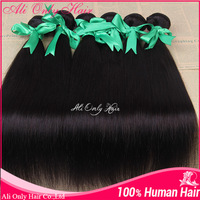 Rosa Hair Products Brazilian Straight Hair Weave 3 Pieces/lot #1b #1 #2 #4 Free Shipping Brazilian Virgin Hair Extension