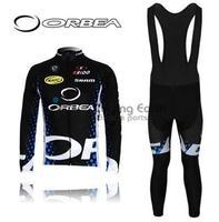 Free shipping!!! ORBEA #3 2011 Winter long sleeve cycling jersey bib pants bike bicycle thermal fleeced wear Plush fabric M22G