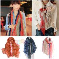 Women Girl Lady Tribe Floral Print Bohemia Style Shawl Scarf  Wrap Stole Muffler scarves
