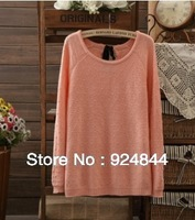 2014 new fashion sweater 3 colors 100% cotton long-sleeved pullover Slim Women Sweater  Factory directly, lowest prices