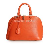 100% Genuine Women Leather Handbags Candy Color Ladies Tote Bag Lock Button Design Women Messenger Bags Shell Shape Shoulder Bag