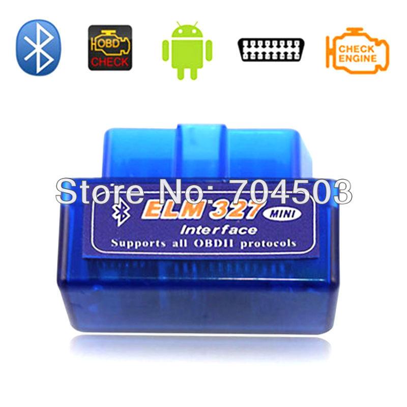 Super Mini ELM327 Bluetooth OBD2 Adapter Auto Scanner obdII Bluetooth ELM 327 Support All OBDii protocols(China (Mainland))