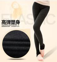 Free shipping women high waist thickening warm cotton pants Large size free size seamless single beaver velvet leggings