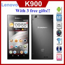 Original Lenovo K900 5.5'' 1920x1080p 2GB RAM 13mp Gorilla Glass Intel Atom Duel Core Phone Android 4.2 Multi Language Russian(China (Mainland))