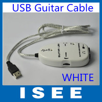 Christmas Thanksgiving Big sale  2 PCS White Easy Plug and Play Guitar Link to USB Interface Cable for PC and Video Recording