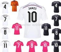 top thai 3A+++ quality JAMES KROOS 2014/15 Real Madrid home away soccer football jersey Ronaldo BALE soccer uniforms jerseys