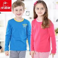 2014 conjunto infantil meninas children clothing branded Kids fleece warm underwear for big girl/boy autumn winter clothes sets