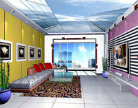 SV-2539 Beautiful City /PVC Ceiling Printing Ceiling Film/ PVC Stretch ceiling Film
