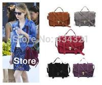 women vintage bag messenger bag emma roberts scrub velvet women handbag new2014 hot top Fashion STYLE DESIGNER BRAND SUPPER STAR