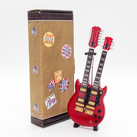 Red Double-neck Gibson Jimmy Page Led Zeppelin Guitar Miniature Figure Gift New Educational Toy Musical Instrument Mini Guitar
