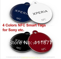 Free Shipping  New Red & Black & White & Blue 4 Color NT1 NFC Smart Tags for Sony Ericsson Xperia S 1set/LOT