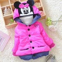 Free shipping fashion girls coat winter coat thick velvet cartoon baby girl coat children clothing kids