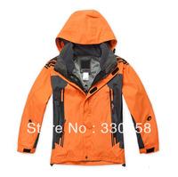 Outdoor Children Jackets For Boys and Girls Kids Two Pieces of Coat Fleece Inner Windproof Waterproof Warm Breathable 6 Colors
