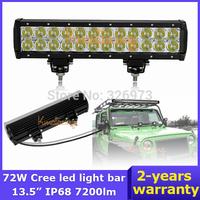 "Cree LED Light Bar 13.46"" Pickup AWD car ATV SUV off-road Driving UTV 12V/24V72W 4x4 led Work Light Van 4WD Spot Beam Camper"