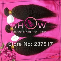 """Cheap Queen Human Hair Weaves, Unprocessed Brazilian10""""-30"""" kinky Straight Real Hair extensions Mix Length 3pcs alot"""