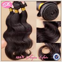 SHE Hair 6A peruvian virgin hair body wave 3pcs free shipping,soft natural black hair can be dyed,peruvian hair weaves no tangle