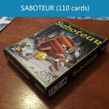 Englisch Saboteur 1/Saboteur 2 Expansion/kunststoff versiegelt/vip Packung/einfache pack optional brettspiel tischspiel kartenspiel(China (Mainland))