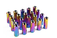 KYLIN  racing 20 Pieces Set L : 60mm Forged 7075 Aluminum Lug Nuts 1.5 / 1.25 neo chrome