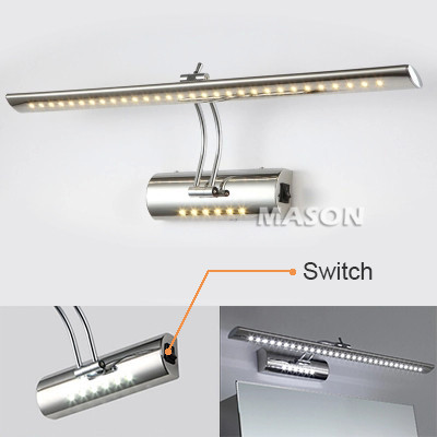 7W 53CM Stainless steel dressing table Mirror sconces LED light Bathroom lamps luminaire Stainless steel waterproof IP65(China (Mainland))