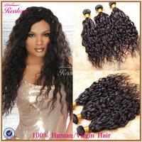 "Human Hair Weave Peruvian Natural Wave 3pc 8""-30""Realove Hair Extension Wet and Wavy Peruvian Hair Extension Cabelo Natural Hair"