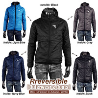 Free Shipping Hot sell new brand men's Jackets outdoor coat hoodie Men hooded reversible jackets MJL01