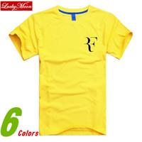 2014 Summer Roger Federer RF Tennis T Shirt cotton sport t-shirt men top tee casual man short sleeve plus size DIY Pullover