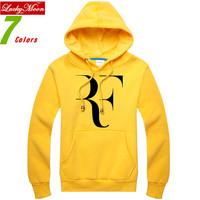 New Fashion 2014 winter Roger Federer RF Tennis Ball Pullover Fleece Hoodies & Sweatshirts Sportwear Comfortable DIY hoody