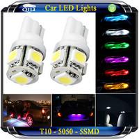 20pcs T10 DC 12V SMD 5050 5 LED w5w  led instrument light Wedge Car Bulb LAMP Free Shipping