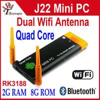 J22 CX-919 ii Quad Core RK3188 Android 4.2.2 Mini PC 2GB RAM 8GB  Built-in Bluetooth Google Smart  TV Box Stick Dongle CX 919 II