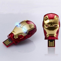 Avengers Iron Man Metal usb flash drive 64GB 8GB 16GB 32GB USB 2.0 Flash Memory Stick Drive pen drive