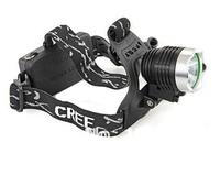 free shipping HK post 1800  lumens  CREE XM-L T6 LED 1600lm Flashlight Headlight Lamp Camping headlamp 3 Mode black