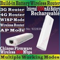 ChineseFirmware TENDA 4G301 Wireless 300Mbps 3G 4G Portable Router 300M Travel WiFi Internal 5200mAh Power Bank TD/FDD-LTE Modem