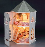 Love the fortress Dollhouse Miniature DIY Kit Kids Child Bedroom Children Gift