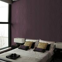 Textured 3D Dark Purple Modern Rhombus Plaid Striped  Wallpaper sala Roll Background  black wall paper White Bedding  Home Decor