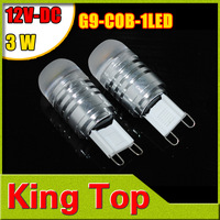 NEW 2014 G9 cob 3w 1w dc12v Lamp Bulb High Power Corn Bulb Car Camper Marine Light Lamp Bulb Free Shipping 4Pcs/Lot