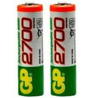 6pcs/Lot  Hot sale original GP battery 1.2V NiMh aa gp 2700  mAh battery gp rechargeable / gp aa mah