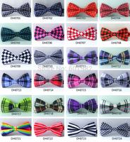 New Butterfly Tie Men Polyester Striped Plaid Print Bowtie High Quality Cravat Bowties Korea Ties Silk Bow Tie Mens 10Pcs/lot