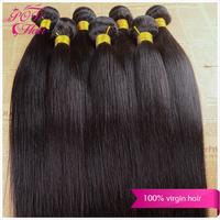 "Ali POP hair cheap brazilian human hair straight 6pcs/lot 5A brazilian virgin hair 8""-30''hair extensions very soft weaves"