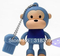 Wholesale custom monkey U disk USB Flash Drive USB 2.0 1,2,4,8,16,32GB USB Memory Drive Free shipping