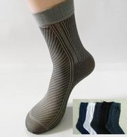 Free Shipping 60pcs=30pairs/lot Man's Fashion Socks, men silk sox soks half stocking from factory, stripe style, cheap, silk