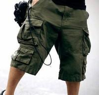 2014 Summer New arrival mens cargo shorts, Cotton men short pants designer camouflage with belt 11 Colors size S M L XL XXL XXXL