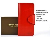 Harrms 2014 new fashion hot women's medium-long wallet casual hasp women's cowhide wallet,female bag
