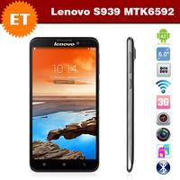 Original mobile phones lenovo s939 6.0 inch 1280x720 MTK6592 1.7GHz 1GB RAM 8GB Dual SIM Android 4.2 WCDMA 8.0MP Camera