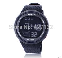 2015 Real Xonix Brand Mens Sports Watch Digital Swimming Diving Waterproof 100m Multifunction Outdoor Wristwatch Free Shipping