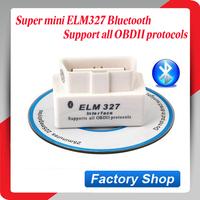 2015 Top selling SUPER MINI ELM327 Bluetooth OBD2 V1.5 White Smart Car Diagnostic Interface ELM 327 Wireless Scan Tool