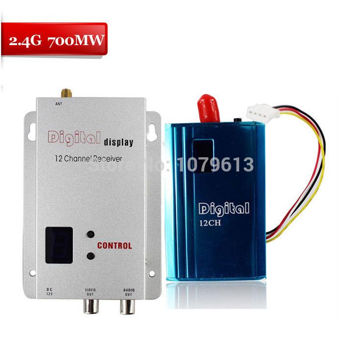 2.4Ghz 700MW wireless transmitter audio video sender FM mini transmitter&receiver(China (Mainland))