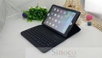 Brand New NICE P1316 Stylish Portable Detachable Bluetooth ABS Keyboard with Leather Case for Tablet