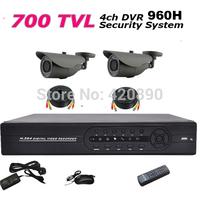 4CH DVR 700tvl 1080P HDMI CCTV DVR Kit Day Night Waterproof Security Camera Surveillance Video System Home DIY CCTV systems